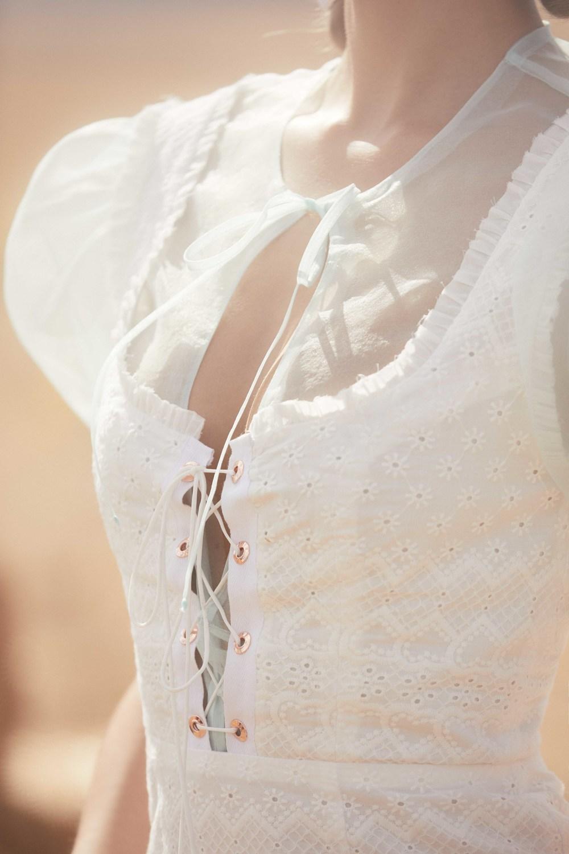 40f1b474a3e50 Charlotte Eyelet Lace Up Mini Dress Out Of Stock